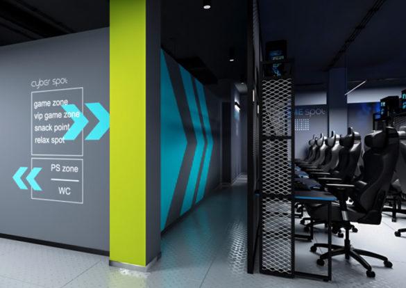 дизайн компьютерного клуба